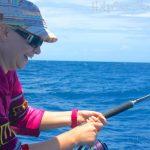 Female anglers in Fiji